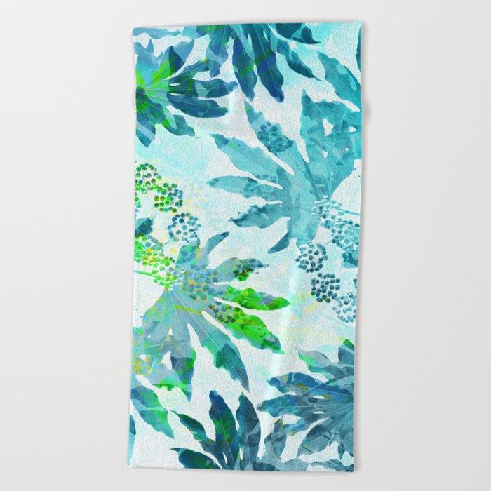 Tropical adventure - Blue Beach Towel