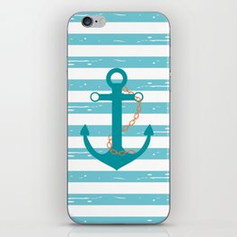 AFE Nautical Teal Ship Anchor iPhone Skin