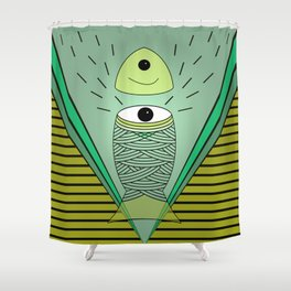 ins-eye-d Shower Curtain