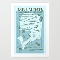 moby dick Art Prints featuring Moby Dick by BT Livermore
