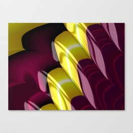 Yellow Purple Fractal Staircase Canvas Print