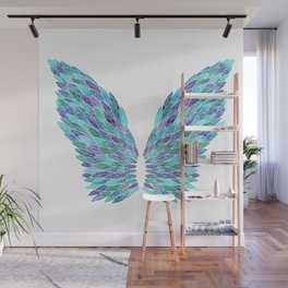 Turquoise Angel Wings Wall Mural