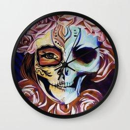 SkullFace Inverted Wall Clock