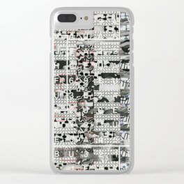 Crossing the Threshold of Sticky Potential (P/D3 Glitch Collage Studies) Clear iPhone Case
