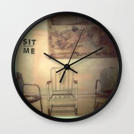Sit Beside Me Wall Clock