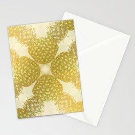 Gold Pineapple Pattern - Gold Fruit - Sunshine Pineapple Stationery Cards