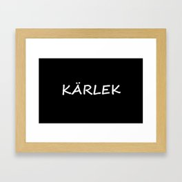 Kärlek, Swedish Love Framed Art Print