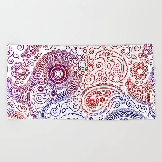 Vintage Pattern I Beach Towel