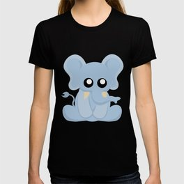 Cute Blue Elephant Sitting T-shirt