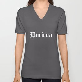 Boricua Puerto Rico design Unisex V-Neck