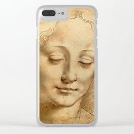 "Leonardo da Vinci ""Woman's head"" 1. Clear iPhone Case"