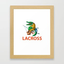 LACROSS Framed Art Print