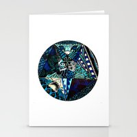 pentagram Stationery Cards featuring Blue Toned Pentagram by Nix Hunt