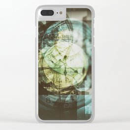 multi exposure clock Clear iPhone Case