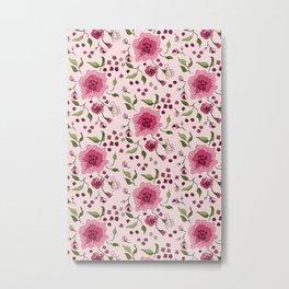 Floral Rose 0023  Metal Print