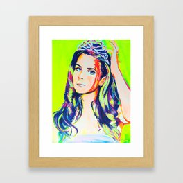 Pop Princess Framed Art Print