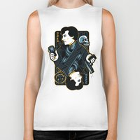 221b Biker Tanks featuring The Detective of 221B by WinterArtwork