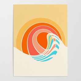 Sun Surf Poster