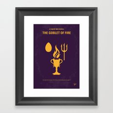 No101-4 My HP - GOBLET OF FIRE minimal movie poster Framed Art Print
