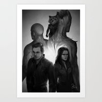 guardians Art Prints featuring guardians by maeng