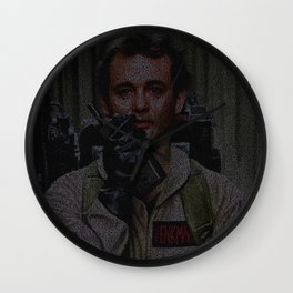 Venkman: Ghostbusters Screenplay Print Wall Clock