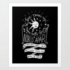 Sun and Moon - Never Shout Never lyrics Art Print