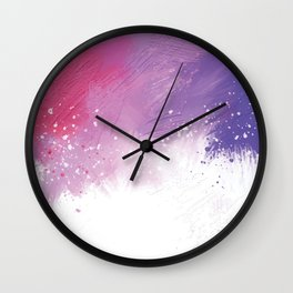 Paint Brushing Wall Clock