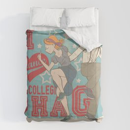 I Love to dance... Collegiate Shag Comforters