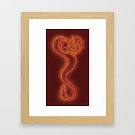 Burning Dragon Heart Framed Art Print