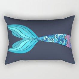 mermaid tail *ocean* Rectangular Pillow