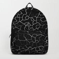 White on Black Crackle Backpack