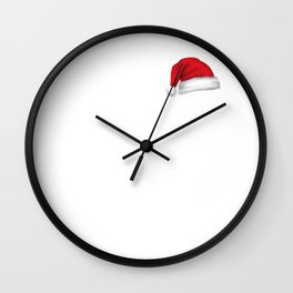 Christmas Santa Moose Wall Clock