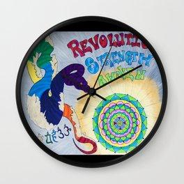 Snake Patronus Mandala Chakra Inspired Colored Pencil Illustration by Imaginarium Creative Studios Wall Clock