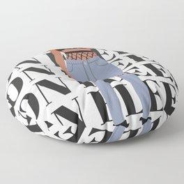 Girl on Fleek Floor Pillow