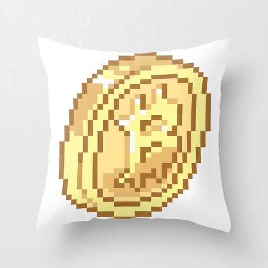 Bitcoin Pixel Art Throw Pillow