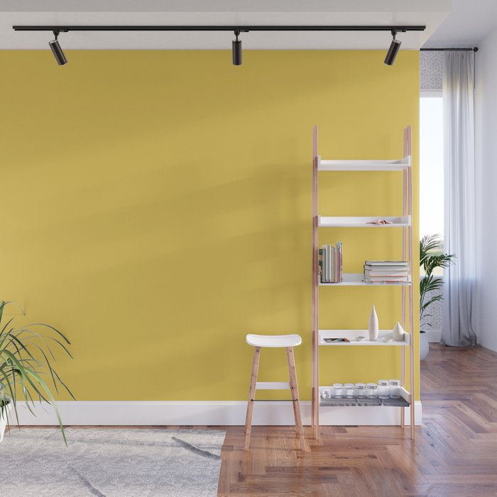 Primrose Yellow | Pantone Fashion Color Spring : Summer 2017 | Solid Color | Wall Mural