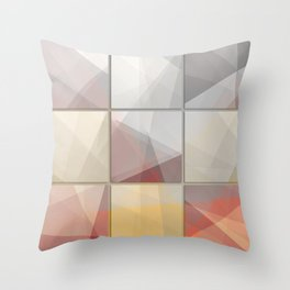 Abstract triangle art Throw Pillow