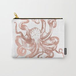 Rose Gold Octopus Carry-All Pouch