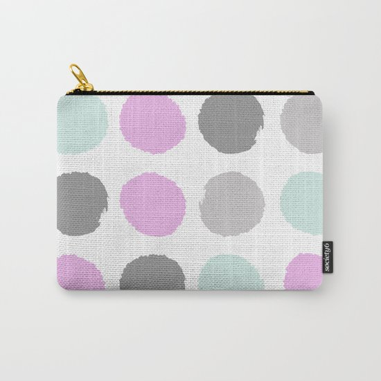 Modern pastel dots polka dots pattern basic decor for home office trendy space Carry-All Pouch
