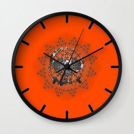 Skull and Crossbones Medallion Wall Clock