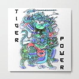 Tiger Power Samurai  Metal Print