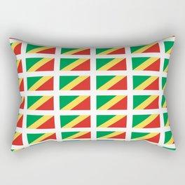 Flag of congo -congolais,congolaise,congolese,brazzaville,kongo,sangha,teke, m'bochi Rectangular Pillow