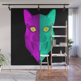 Regular Cat Face Wall Mural