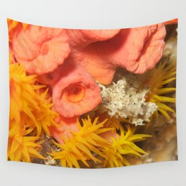 Yellow polyp anemone coral Wall Tapestry