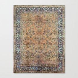 Kashan Floral Persian Carpet Print Canvas Print
