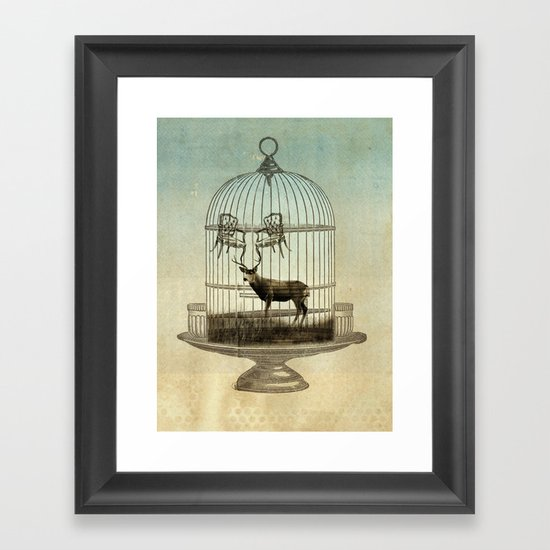 stag chairs Framed Art Print