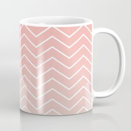 Blush Pink Chevron Coffee Mug