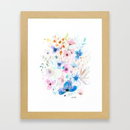 Wildflower Jewels Framed Art Print