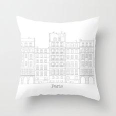 Untapped Paris Throw Pillow