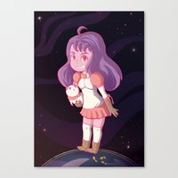 bee and puppycat Canvas Prints featuring Bee and Puppycat by Steph Harrison